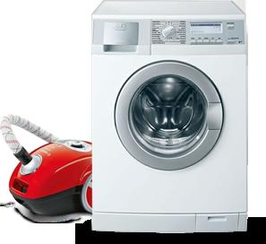 Wasmachine en stofzuiger