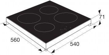 Kookplaat inductie inbouw